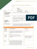 Lesson Plan Sample for IGCSE