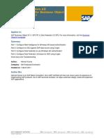 Configure Windows AD Authentication for Business Object Enterprise XI 3.1