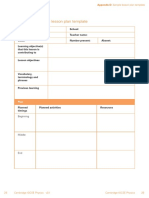 Lesson Plan Template for IGCSE