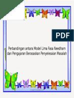 Perbandingan Antara Model Lima Fasa Needham Dan Pengajaran