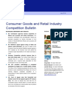 Report Retail - Clifford Change - 2014 - Consumer Goods and Retail Industry Competition Bulletin
