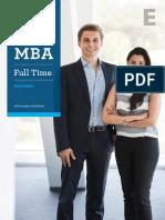 Esade Full Time MBA Brochure 2015