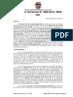 Resolución Gerencial Nº 088-2015-Mda-gm Reconocimiento de Devengados Varios