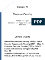 Material Requirement Planning and Master Prod Schedule