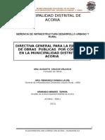 Directiva Para La Ejecucion de Obras Por Contrata