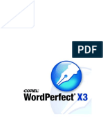 WordPerfect X3 Manual