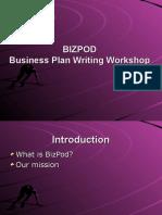 BizPod Business Plan Workshop