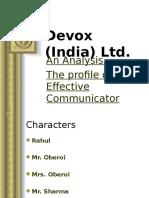 Devox (India) Ltd- Case Study in Communication