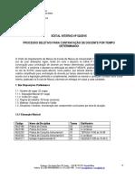 Edital Interno Concurso Professor Substituto 02-2015