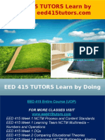 EED 415 TUTORS Learn by Doing - Eed415tutors.com