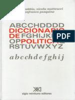 Diccionario de Politica - NorbeDiccionario de politicDiccionario de politica - Norberto Bobbioa - Norberto Bobbiorto Bobbio