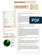 Johnson & Johnson Equity Research Report