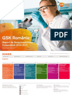 GSK Romania - Raport de Responsabilitate Corporativa 2014-2015