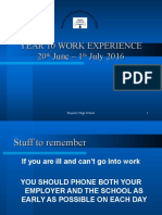 Final Work Experience Presentation