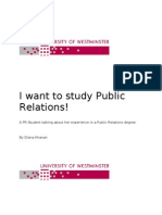 Studying Public Relations