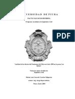 Análisis de los efectos del Fenómeno del Niño en el año 1998 en la presa Los Ejidos