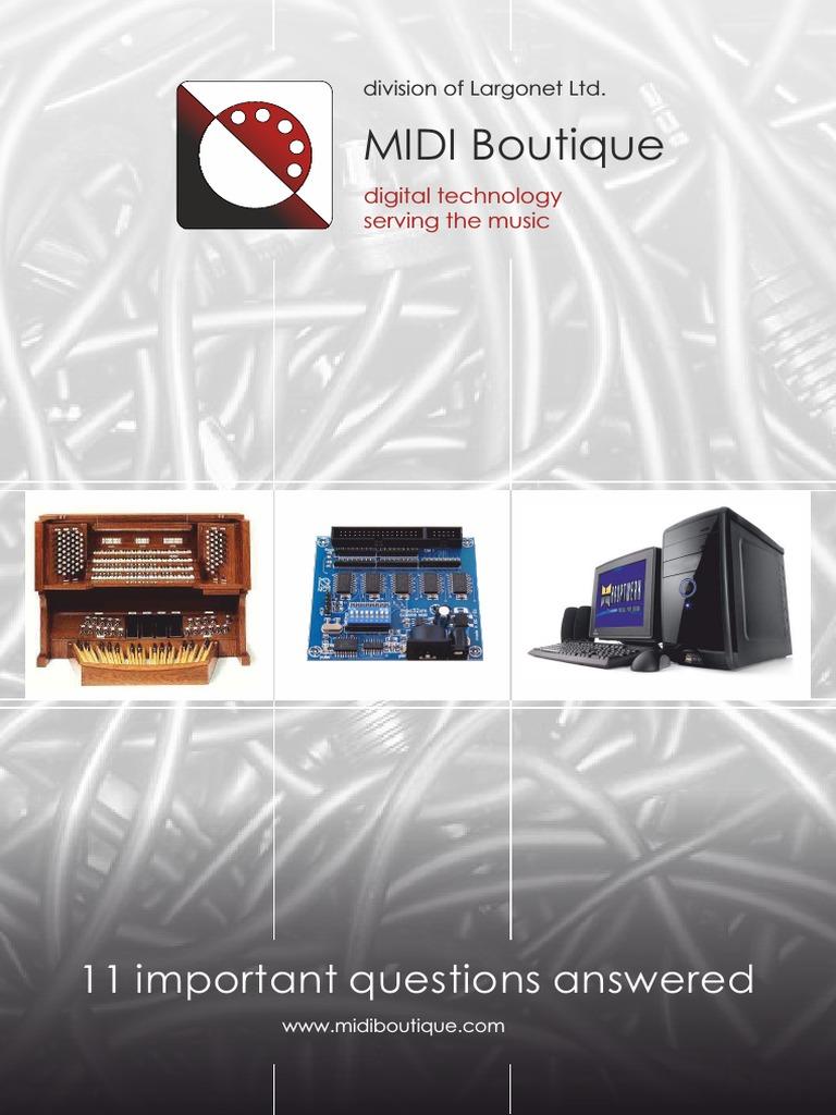 MIDI Boutique Brochure pdf | Synthesizer | Hornbostel Sachs