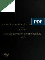 Design of 20 MVA