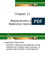Engineering Economins-Replacement and Retention Decisions
