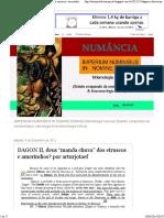 """NUMANCIA_ DAGON II, Deus """"Manda Chuva"""" Dos Etruscos e Ameríndios_ Por Arturjotaef"""