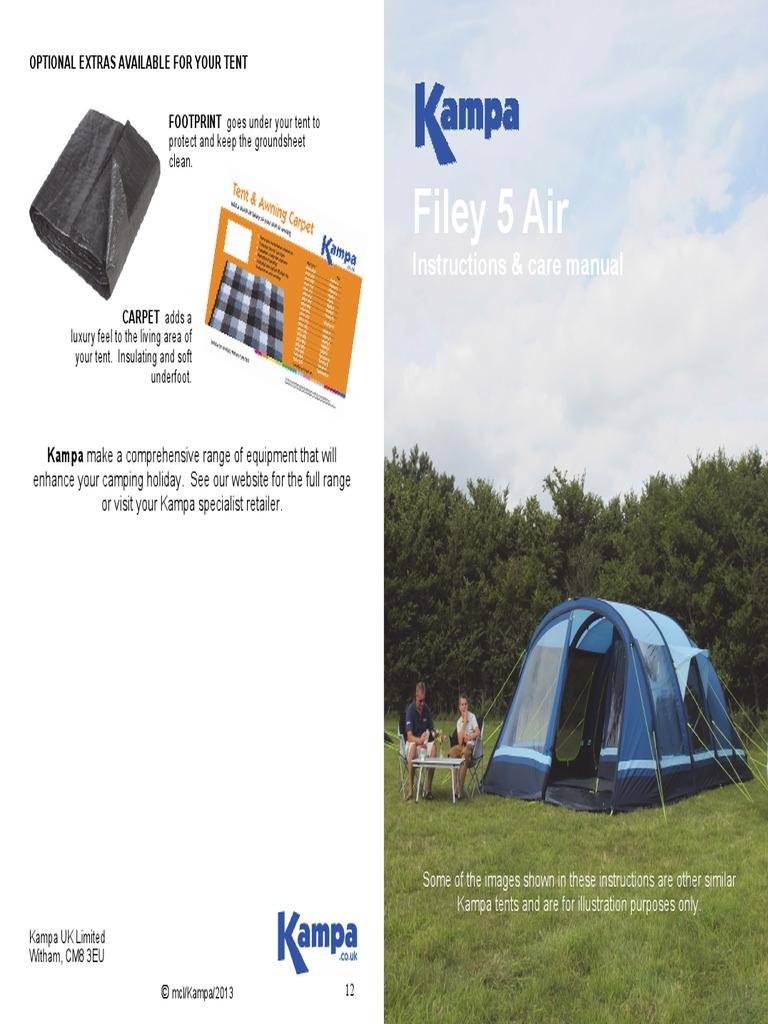 Kampa Filey 5 Air Tent   Tent   Leak