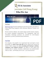 Hill & Associates Ltd Hong Kong