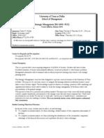 UT Dallas Syllabus for ba4305.0u2.10u taught by Omer Gokalp (ong061000)