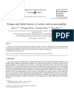 Fatigue and Brittle Fracture of Carbon Steel Process Pipeline