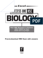 9781741254679 Excel Success One HSC Biology SAMPLE 2014