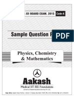 CBSE Sample Paper PCM Class XII 2015