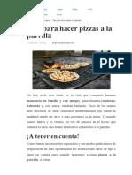 Tips Para Hacer Pizzas a La Parrilla