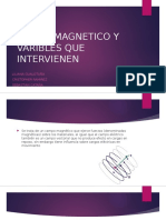 Campo Magnetico y Varibles Que Intervienen
