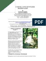 Polyethylene Biogas Plant