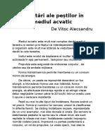 Adaptari Ale Pestilor În Mediul Acvatic