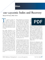 Glycemic Index and Recovery
