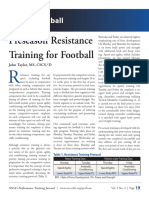 Preseason Resistance Training for Football