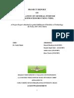 Final Report 16 Bit Microprocessor Using Vhdl