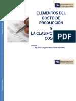 Semana 02 - Elementos Del Costo de Producción y La Clasificación Del Costo