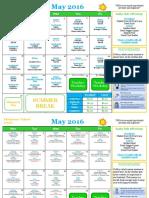 May Elementary School Calendar