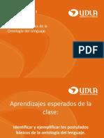Postulados Básicos de La Ontología Del Lenguaje.