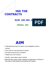 Preparing the Contracts-lecture 1
