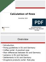 Presentation-calculation of Fines