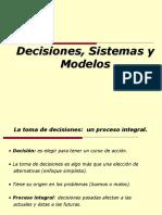 CLASE 1 - Decision, Sistemas y Modelos