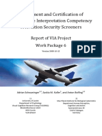 Assessment and Certification of  X‐Ray Image Interpretation Competency  of Aviation Security Screeners