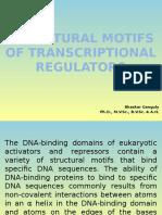 STRUCTURAL MOTIFS OF TRANSCRIPTIONAL REGULATORS