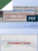Biochemistry of Membrane Lipids