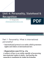 Unit 4.Personality, Statehood & Recognition