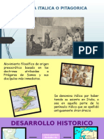 Escuela Italica o Pitagorica