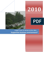 Monthly Report on Dar Es Salaam Travel Time March 2010