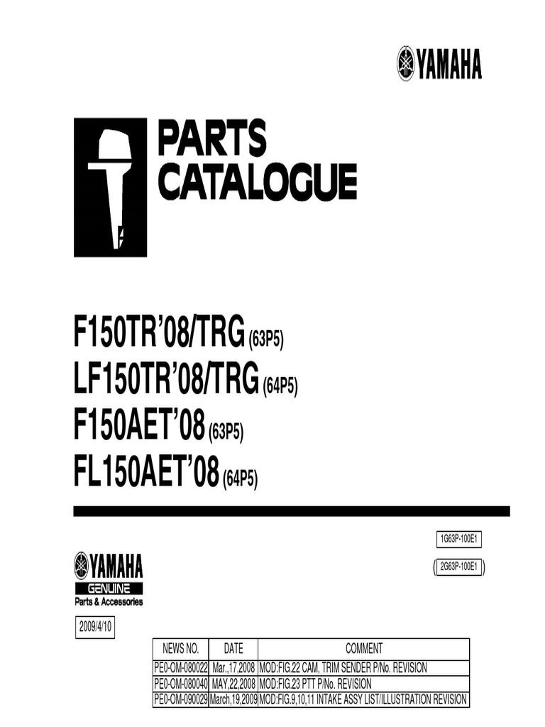 Yamaha F150aet Spare Parts